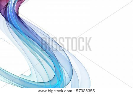abstract colorful twisted waves on a white background poster