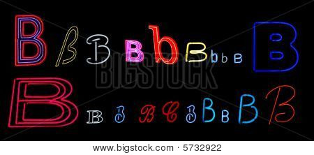 neon letter B collection