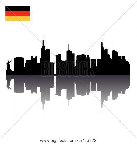 vector silhouettes of Frankfurt
