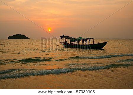 Sunset On Cambodia