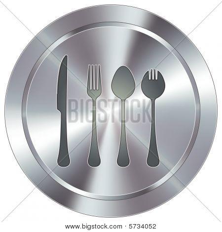 Modern silverware button