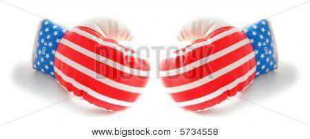 Boxing Gloves Usa Stars And Stripes Flag