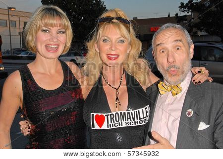 Rena Riffel, Shelley Michelle and Lloyd Kaufman at the 35th Troma Anniversary Event, New Beverly Cinema, Los Angeles, CA. 04-23-10