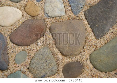 Sand and stones