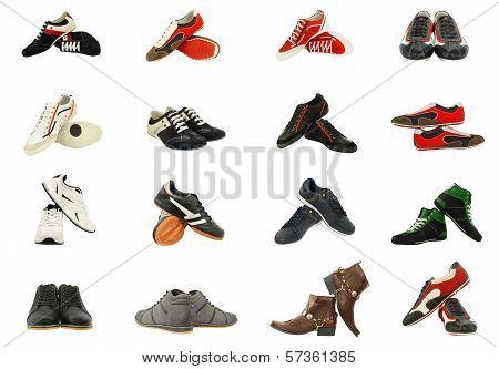 Different Set Of Men's Shoes