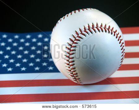 Baseball On Flag