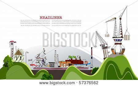 Cargo port of the Big city, City collection