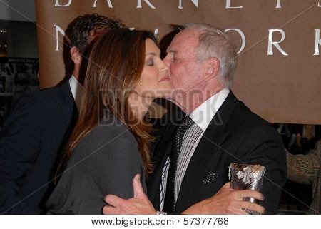 Cindy Crawford and Jerry Weintraub at a celebration of Jerry Weintraub's New Book