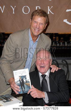 Bob Einstein and Jerry Weintraub at a celebration of Jerry Weintraub's New Book