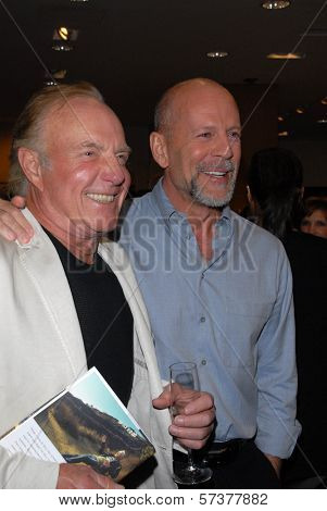 James Caan and Bruce Willis at a celebration of Jerry Weintraub's New Book