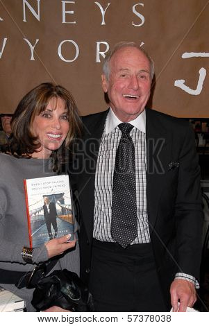 Kate Linder and Jerry Weintraub at a celebration of Jerry Weintraub's New Book