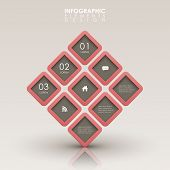 modern vector abstract 3d interface infographic elements poster