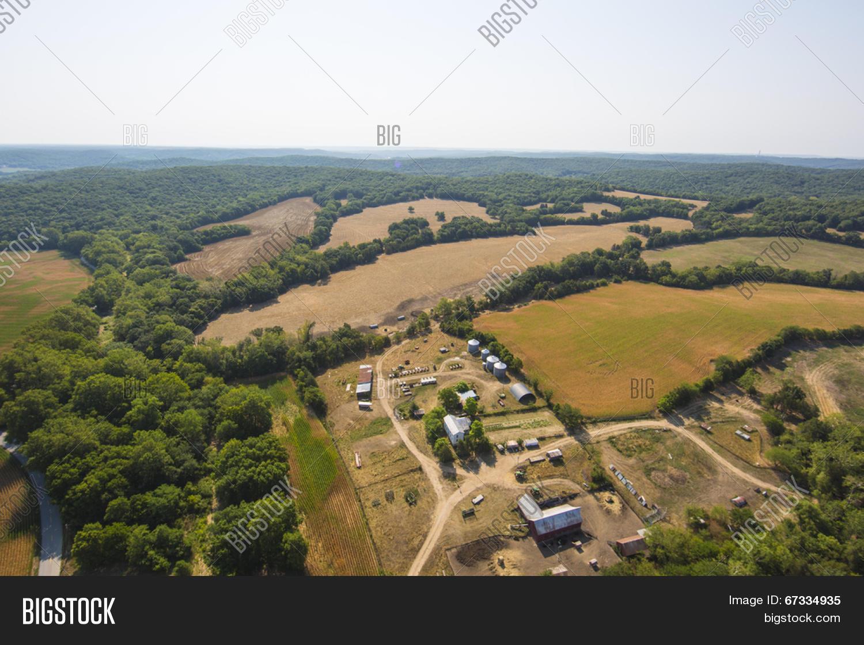Aerial View Farm Image & Photo (Free Trial) | Bigstock