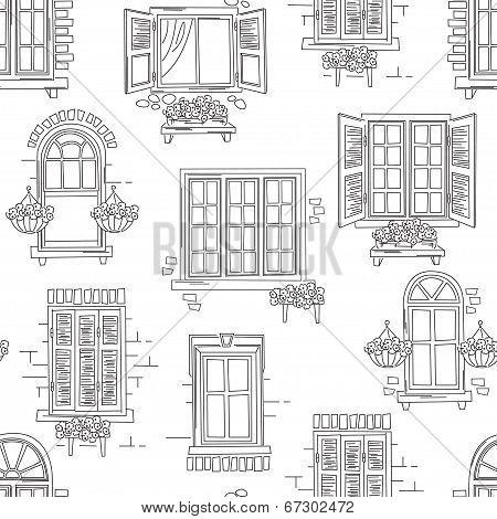 Retro windows pattern.