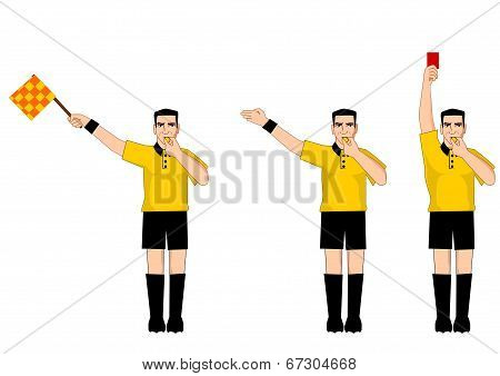 Collection of football referee gestures