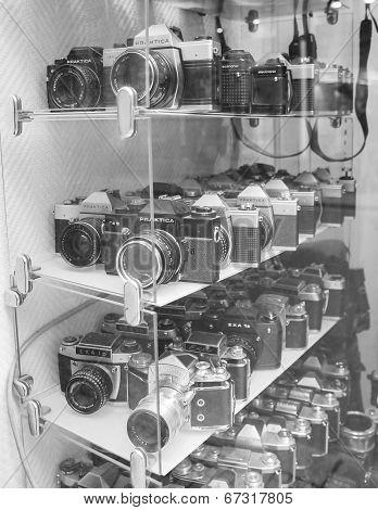 Praktica And Exa Vintage Camera