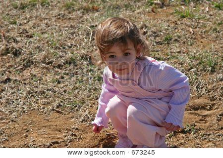 Baby Girl In Dirt