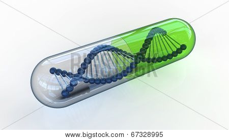 Dna In Transparent Pill