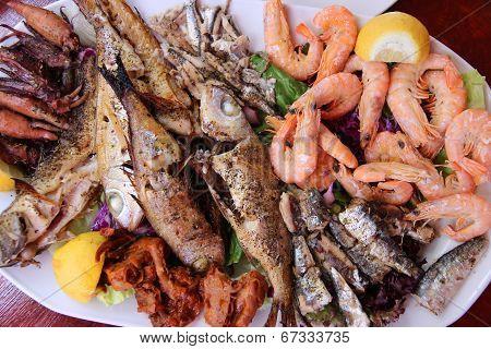 Greek Seafood Plate