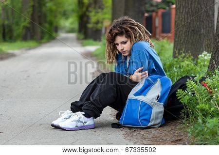 Young Depressed Girl