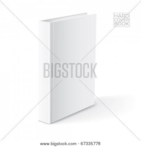 3D Hard cover book design template. Vector detailed illustration.