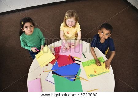Young Students In Art Class