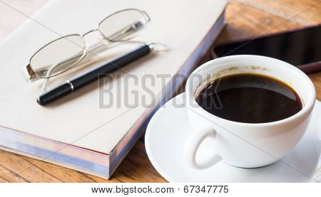 Relaxed Time Drink Hot Cup Of Coffee