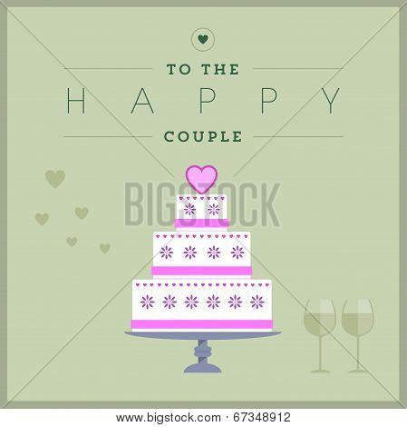 Cake themed wedding card