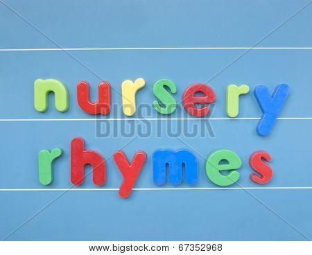 Colorful letters nursery rhymes.