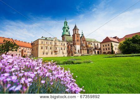 Beautiful view near Wawel Royal Castle