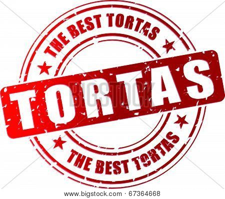 Vector Tortas Stamp
