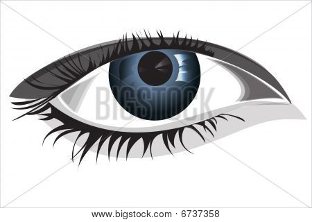 Woman eye, vector illustration, EPS file included