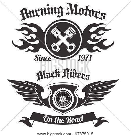 Motorcycle label black