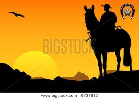 the cowboy on a horse