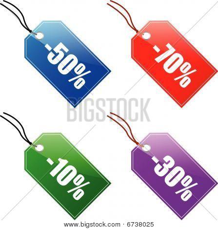 sale labels (vector)