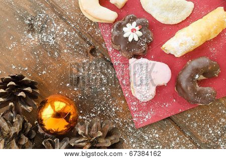 Christmas Candy With Pinecone In Punnet