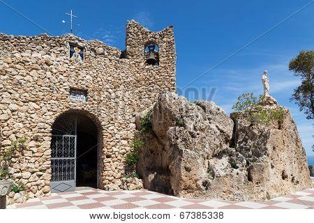 Grotto Of The Virgin De La Peña In Mijas, Spain