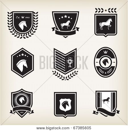 horse badges