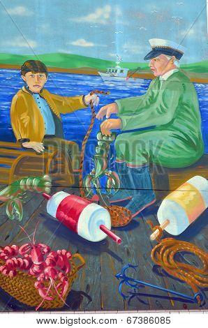 Mural tell the story of Lunenberg