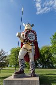 The statue of Big Ole the Viking was constructed in 1965 as a tourist attraction to commemorate the Norse heritage of those who settle in the region around Alexandria Minnesota. poster
