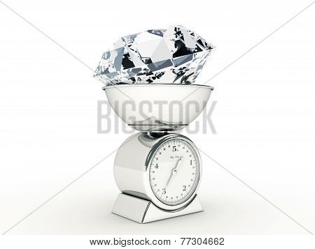 kitchen scale with giant diamond