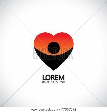 Icon For Positive Personality, Empathetic Person, Kind Nature - Concept Vector
