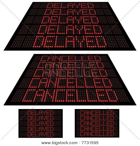 LED display - Set 1 - Cancelled and Delayed