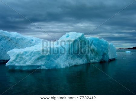 Iceberg in stormy weather