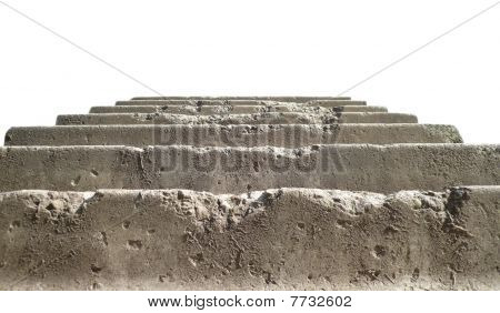 Stairs On White Background