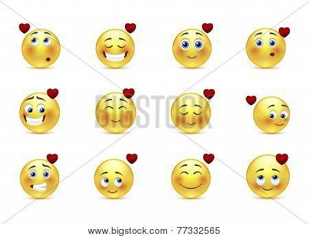 Set Valentine Emoticons
