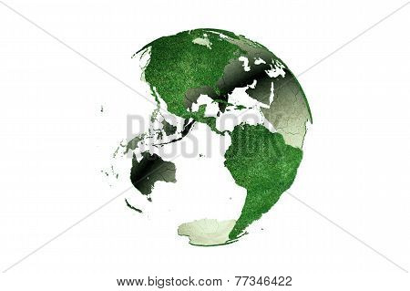 Americas On Grassy Earth Globe