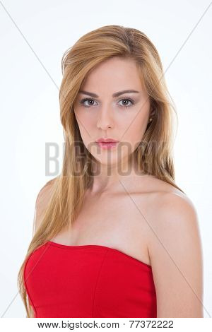 Portrait Of Blond Girl
