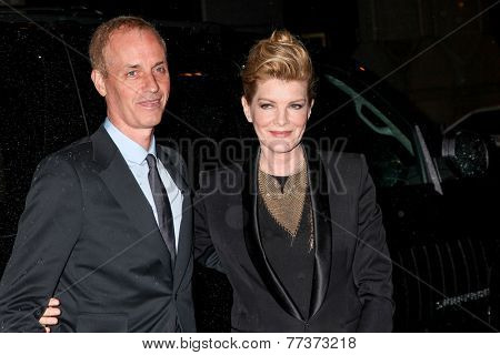NEW YORK, NY - DECEMBER 01: Rene Russo (R) and Dan Gilroy attend IFP's 24th Gotham Independent Film Awards at Cipriani, Wall Street on December 1, 2014 in New York City.