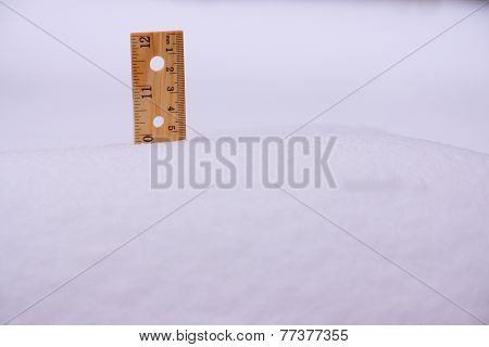 Ruler In Snow Ten Inches